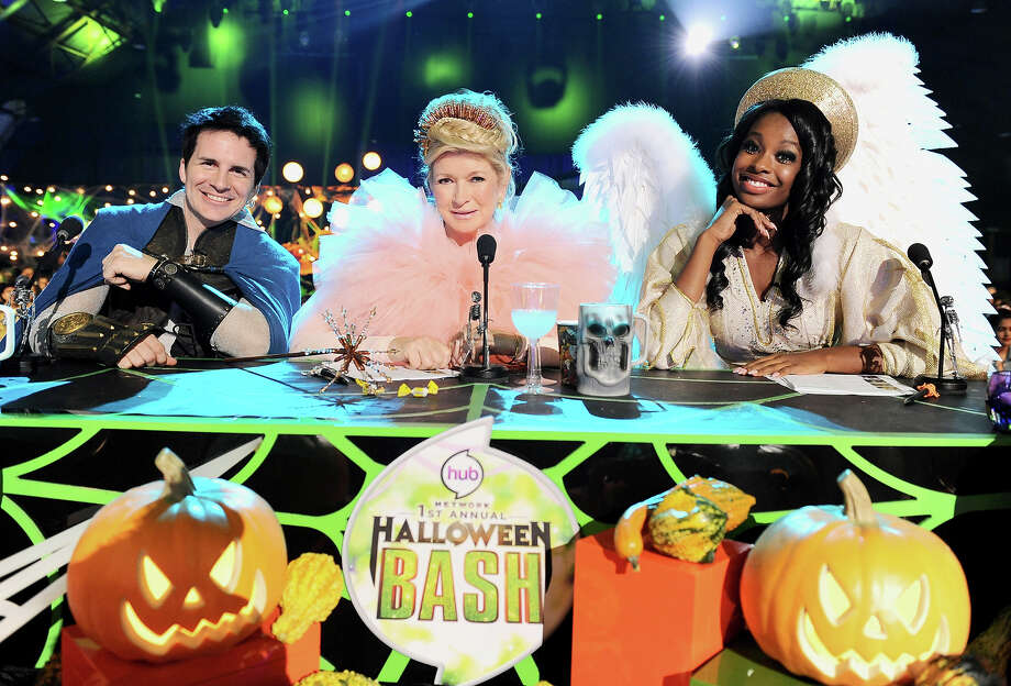 "From left, judges Hal Sparks, Martha Stewart and Coco Jones pose at ""Hub Network's First Annual Halloween Bash"" on Sunday, Oct. 20, 2013, at the Barker Hanger in Santa Monica, Calif. The star-studded special will be broadcasted on the Hub Network on Saturday Oct. 26, 2013. Photo: Jordan Strauss, Invision For The Hub Network / Invision2013"