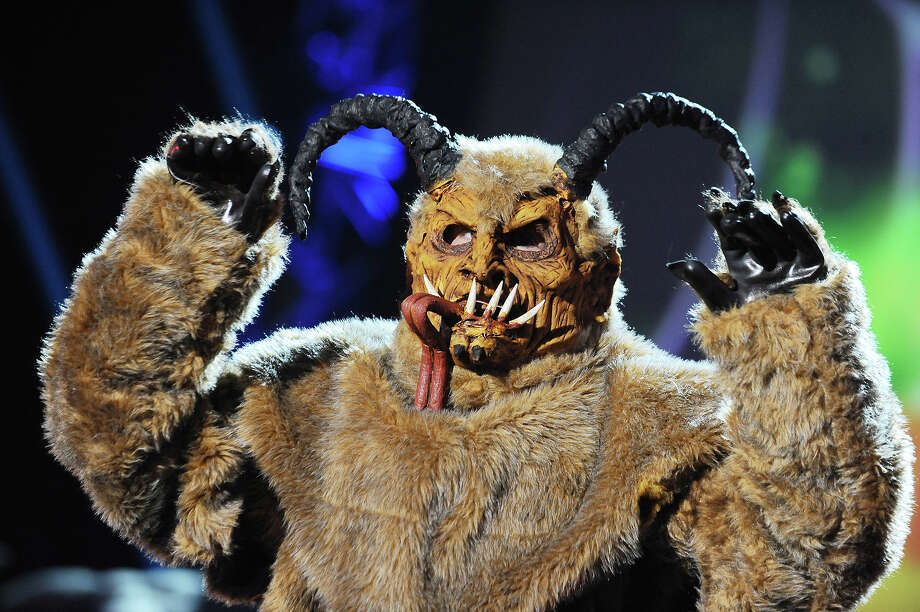 """Spooktacular"" nominee Shawn Seilhamer from Pennsylvania, appears onstage dressed as Krampus the Monster Demon at ""Hub Network's First Annual Halloween Bash"" on Sunday, Oct. 20, 2013, at the Barker Hanger in Santa Monica, Calif. The star-studded special will be broadcasted on the Hub Network on Saturday Oct. 26, 2013. Photo: Jordan Strauss, Jordan Strauss/Invision/AP / Invision"