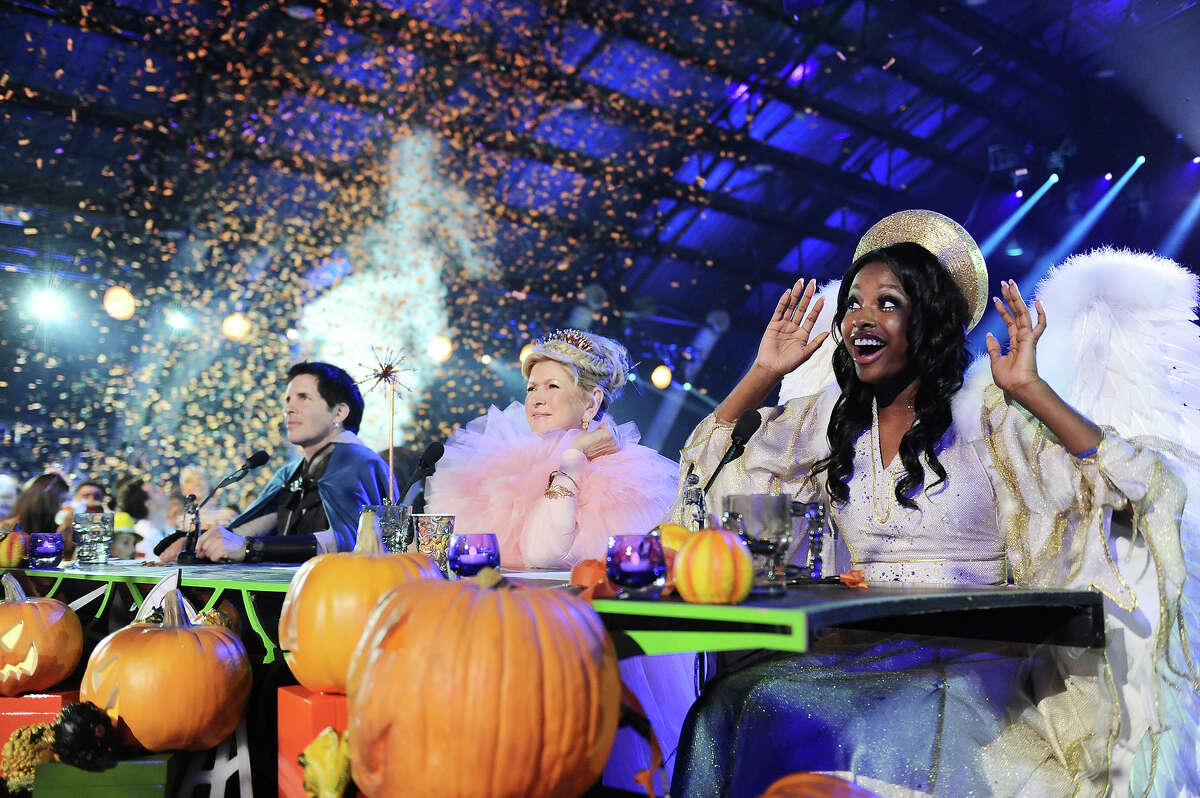 From left, judges Hal Sparks, Martha Stewart, and Coco Jones appear at