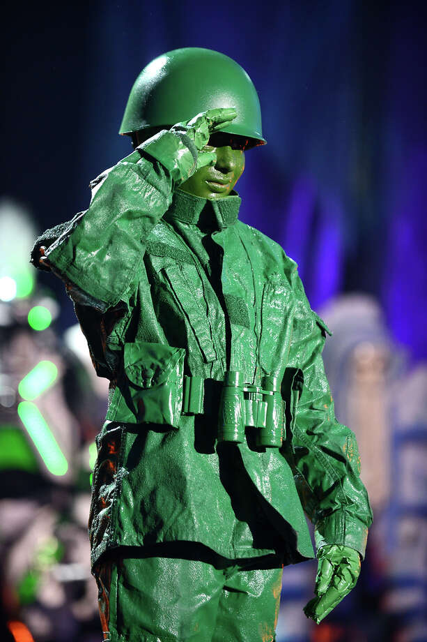 """Mad Genius"" nominee Jack Shepard from Minnesota, appears onstage dressed as Plastic Toy Soldier at ""Hub Network's First Annual Halloween Bash"" on Sunday, Oct. 20, 2013, at the Barker Hanger in Santa Monica, Calif. The star-studded special will be broadcasted on the Hub Network on Saturday Oct. 26, 2013. Photo: Jordan Strauss, Jordan Strauss/Invision/AP / Invision"