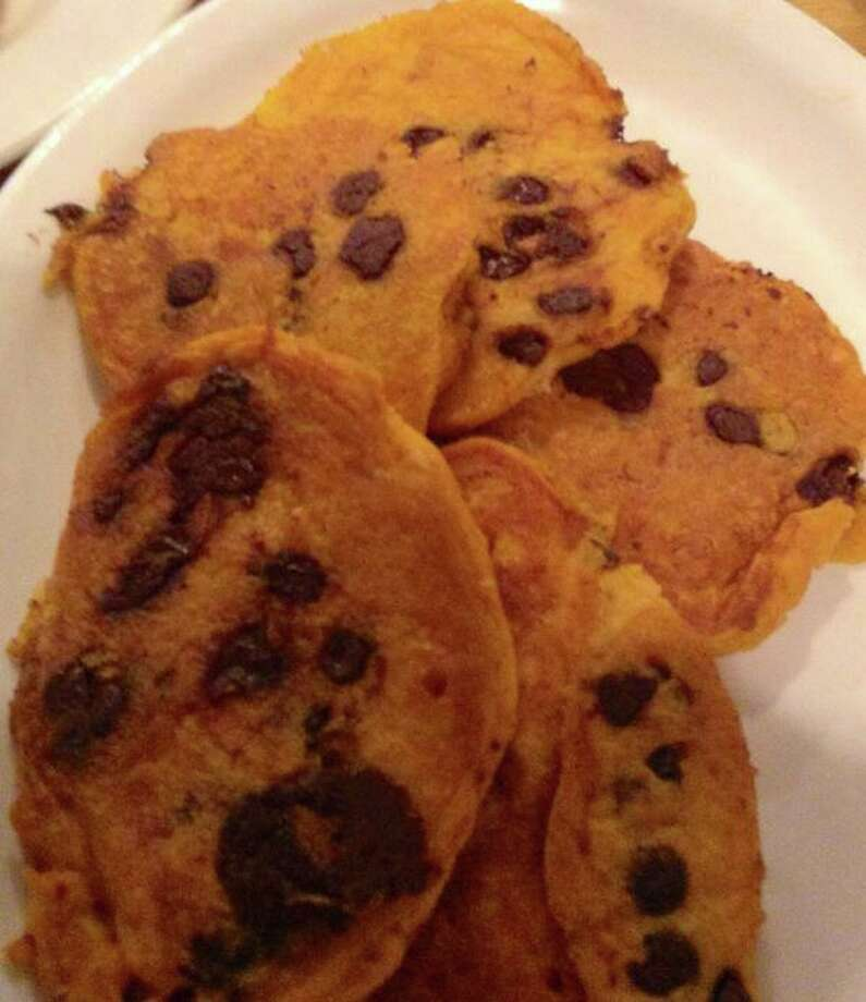 Submitted by Jennifer Jarmick Marchese. She says: I had pumpkin chocolate chip pancakes with a pumpkin coffee for breakfast on Saturday.