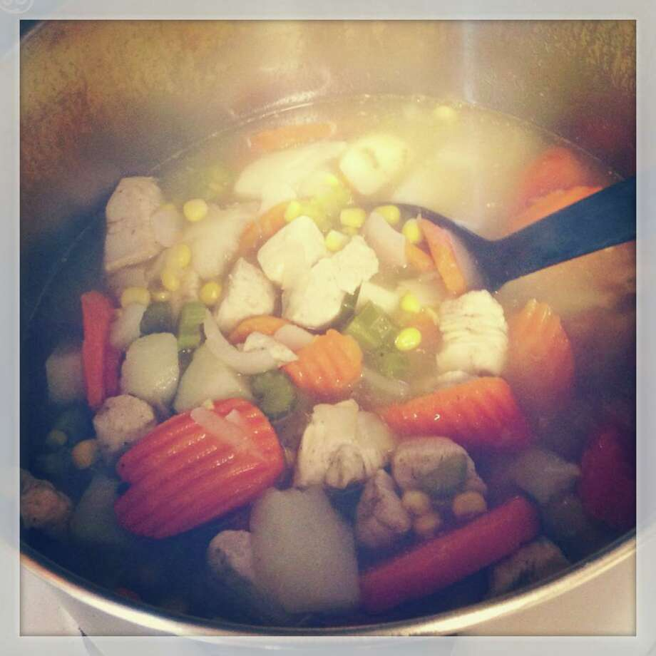 Home made Gluten free chicken soup! Submitted by Ashley Nacco