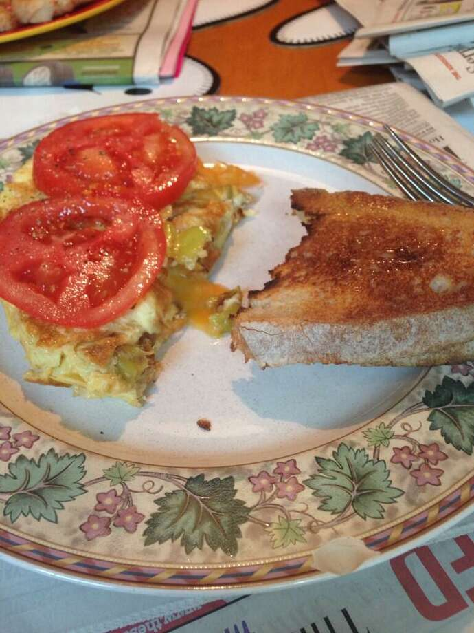 Breakfast made by hubby -- the best kind, we say. Submitted by  melanie Brown Dallas