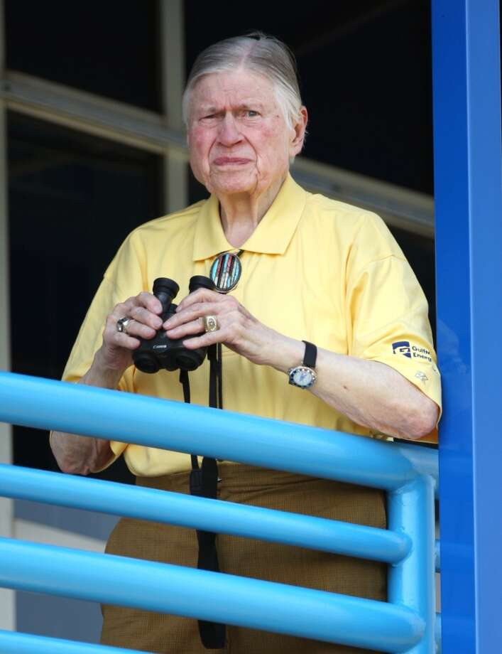 Titans owner Bud Adams watches practice during the first day of training camp in 2009. Photo: Mark Humphrey, Associated Press