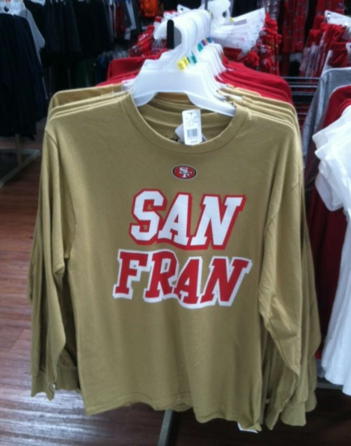 """""""San Fran."""" Despite this 49ers shirt, no self-respecting San Franciscan would utter that phrase. It got us thinking, what else would you never catch a San Francisco resident saying?"""