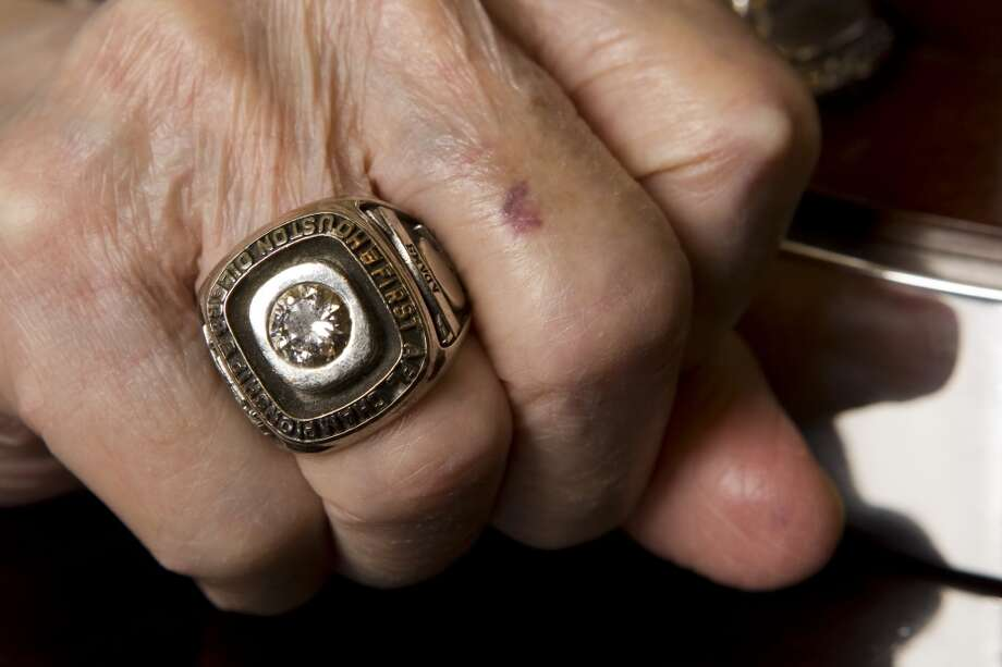 Bud Adams' wears his American Football League championship ring Photo: Brett Coomer, Houston Chronicle