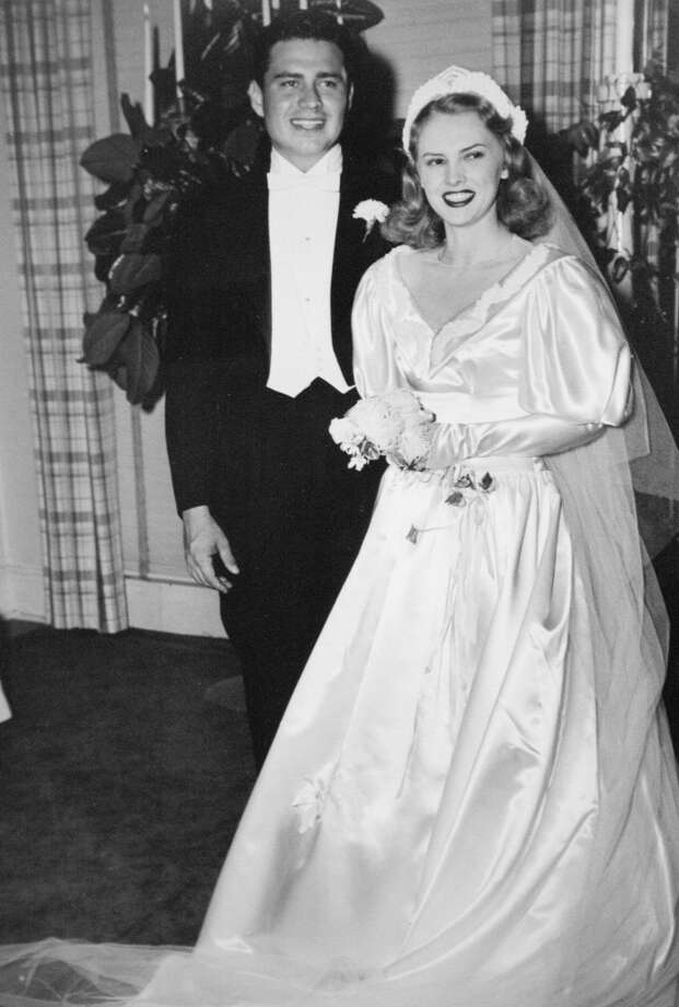 Bud Adams is shown on his wedding day with bride Nancy, in a family photo. Photo: Photo Courtesy Bud Adams
