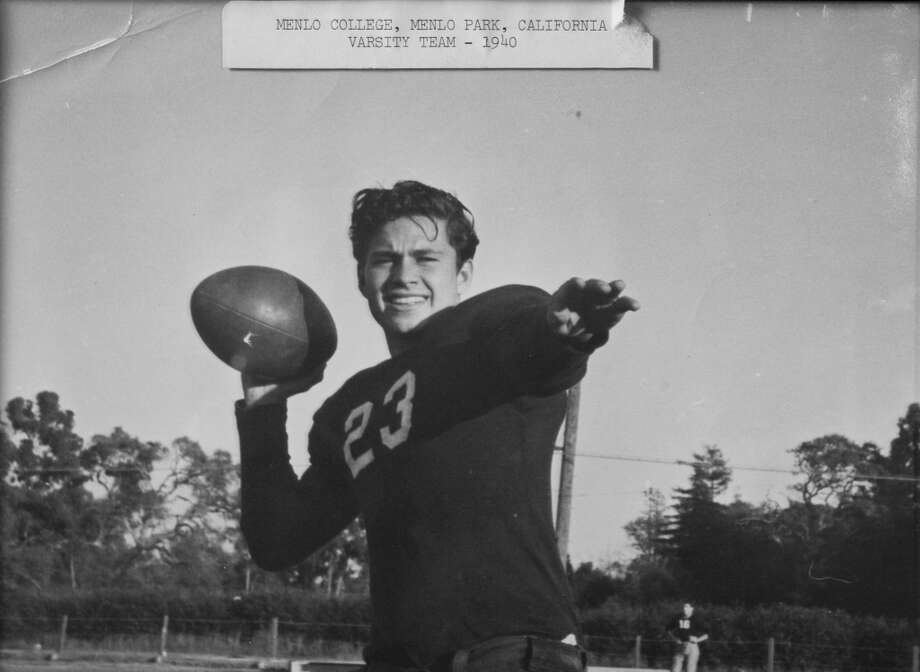 Bud Adams is shown in this 1940 photo from Menlo College in Menlo Park, Calif. Photo: Photo Courtesy Bud Adams