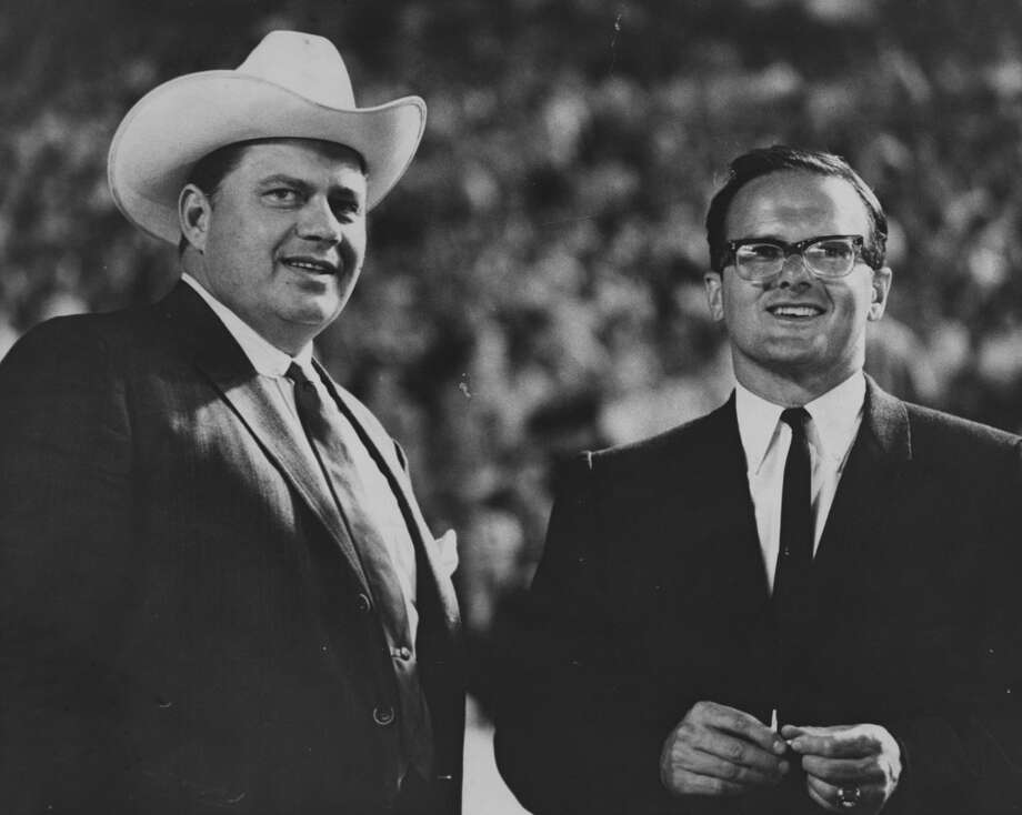 Bud Adams, left, and Lamar Hunt, shown in this 1970 file photo, were pioneers of the American Football League who helped make the Super Bowl what it is today. Photo: Houston Chronicle File Photo