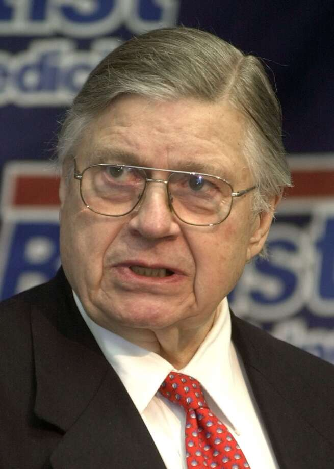 Bud Adams announces on April 30, 2002 that he has bought his own Arena Football League franchise. Photo: Mark Humphrey, Associated Press