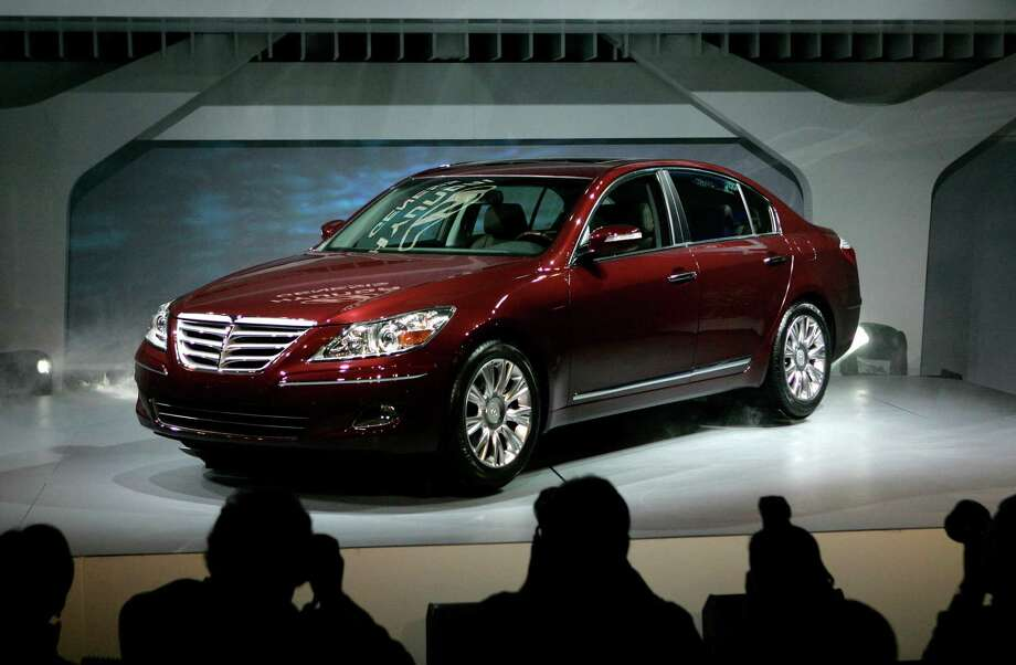 The 2009 Hyundai Genesis, shown at the North American International Auto Show in Detroit, is the subject of complaints of brake problems. Photo: Paul Sancya, AP / AP