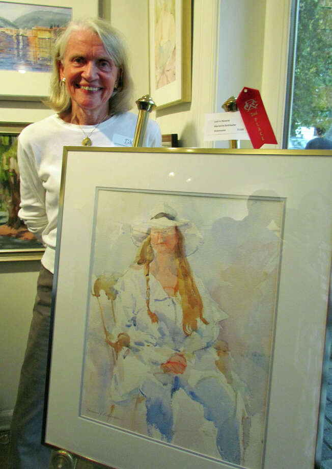 "New Canaan resient Marianne Rothballer won second place in the Rowayton Arts Center exhibition ""Reflections"" for her watercolor ""Lost in Reverie."" Photo: Contributed Photo, Contributed / New Canaan News Contributed"