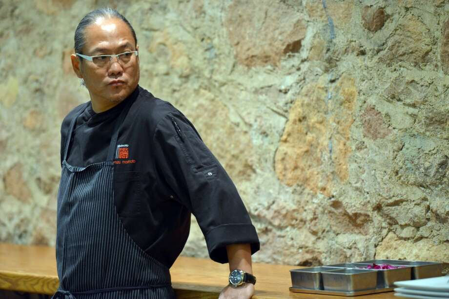 Iron Chef Masaharu Morimoto looks pretty serious at his 2012 Flavor cooking demonstration, but he's well known for his wacky sense of humor, and for breaking into song while he works