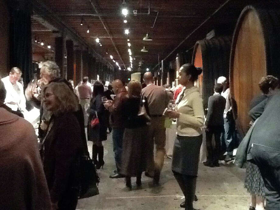 Tasting amid the wine barrels on The Appellation Trail
