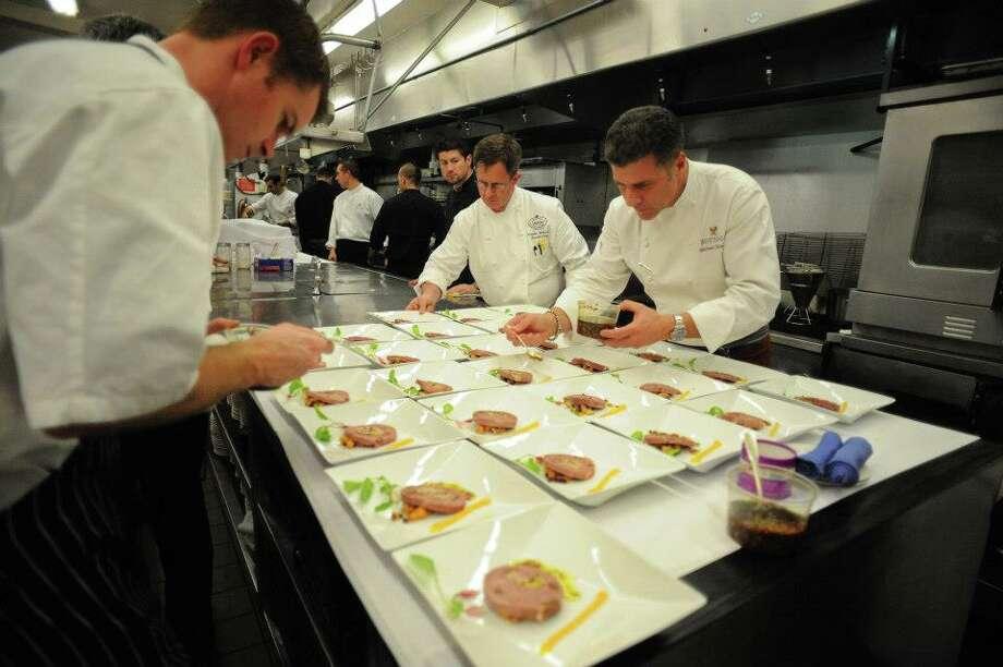 Chef Michael Chiarello and crew make a meal at The Silverado Resort & Spa