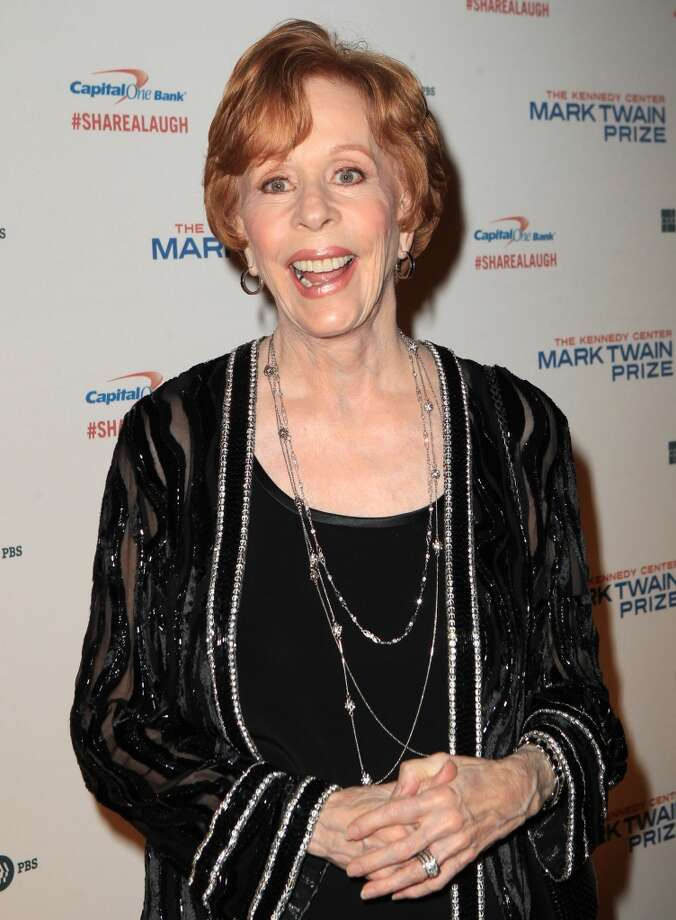 Carol Burnett arrives at 16th Annual Mark Twain Prize presented to Carol Burnett at the Kennedy Center on Sunday, Oct. 20, 2013 in Washington, D.C. (Photo by Owen Sweeney/Invision/AP) Photo: Associated Press