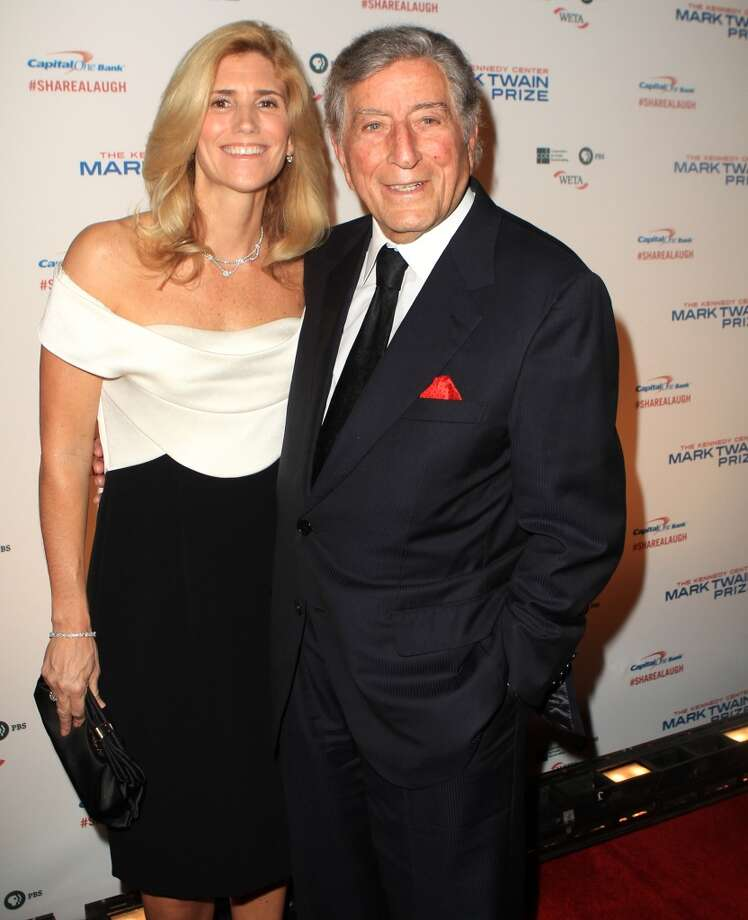 Tony Bennett with wife Susan Crow arrive at 16th Annual Mark Twain Prize presented to Carol Burnett at the Kennedy Center on Sunday, Oct. 20, 2013 in Washington, D.C. (Photo by Owen Sweeney/Invision/AP) Photo: Associated Press