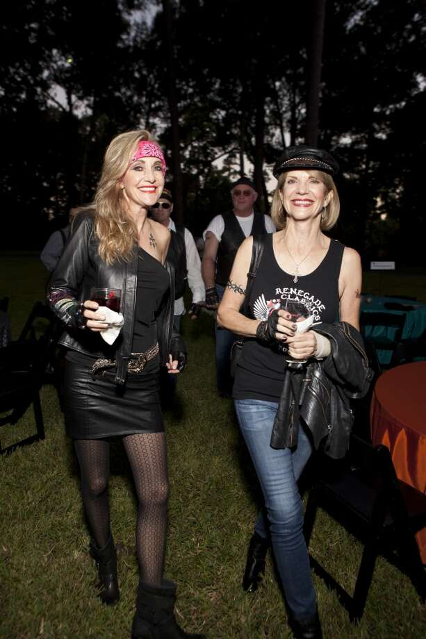 Turns out the life of Houston's social set is not just about picking out the perfect dress and hairstylist for every occasion. Sometimes, for instance, you need a black leather jacket and a bandana. 