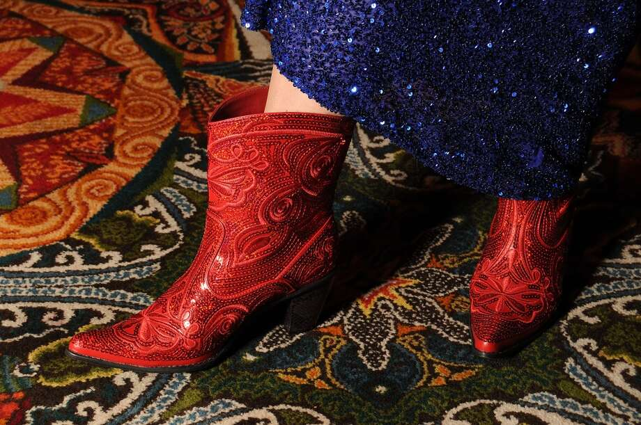 Even shoes don't escape the color-themed party circuit. Photo: Dave Rossman, For The Houston Chronicle