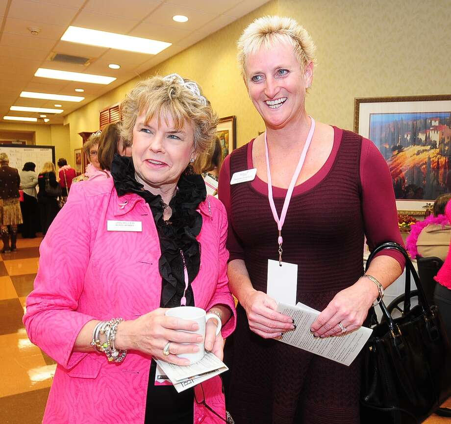 Jan Miller (board member) and Debbie Scanlon (board member) participate in the North Cypress Medical Center Project Pink 2013 event benefiting the Houston affiliate of Susan G. Komen for the Cure on Oct. 19. Photo: © Tony Bullard 2013, Tony Bullard / © Tony Bullard & the Houston Chronicle