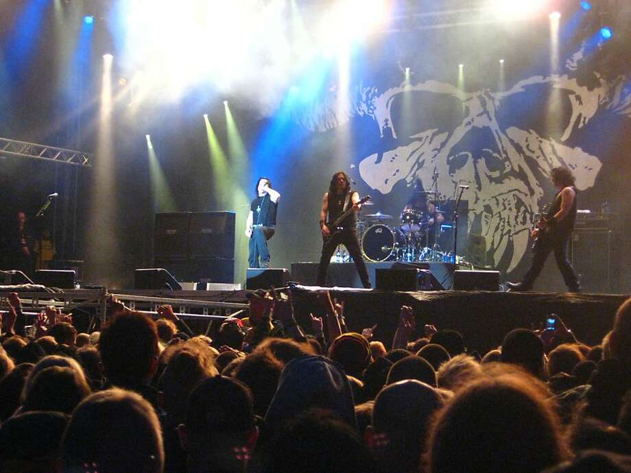 Among the scarier Halloween music shows are Danzig's (above) 25th anniversary celebration at the Warfield in San Francisco and Slayer (left) at the Event Center at San Jose State University. Photo: 2010