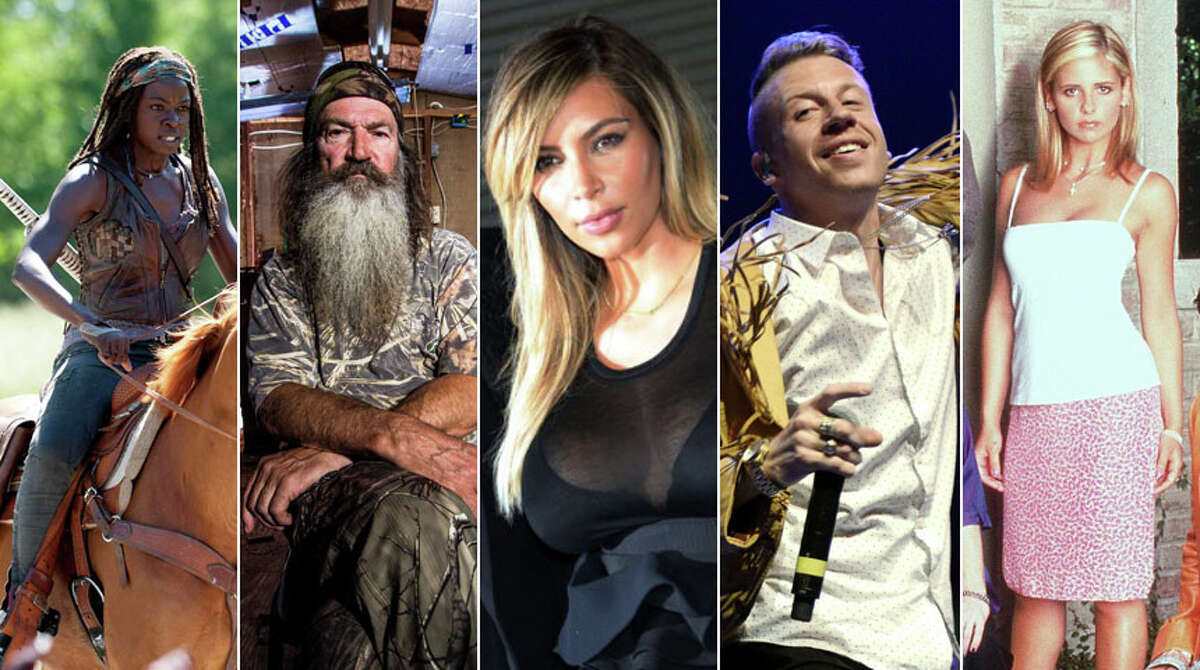 Zombies, Macklemore and multi-millionaire hillbillies are inspiring Americans this Halloween, according to a Value Village survey released Monday. Take a look at the slideshow above for some of the Bellevue-based company's findings.