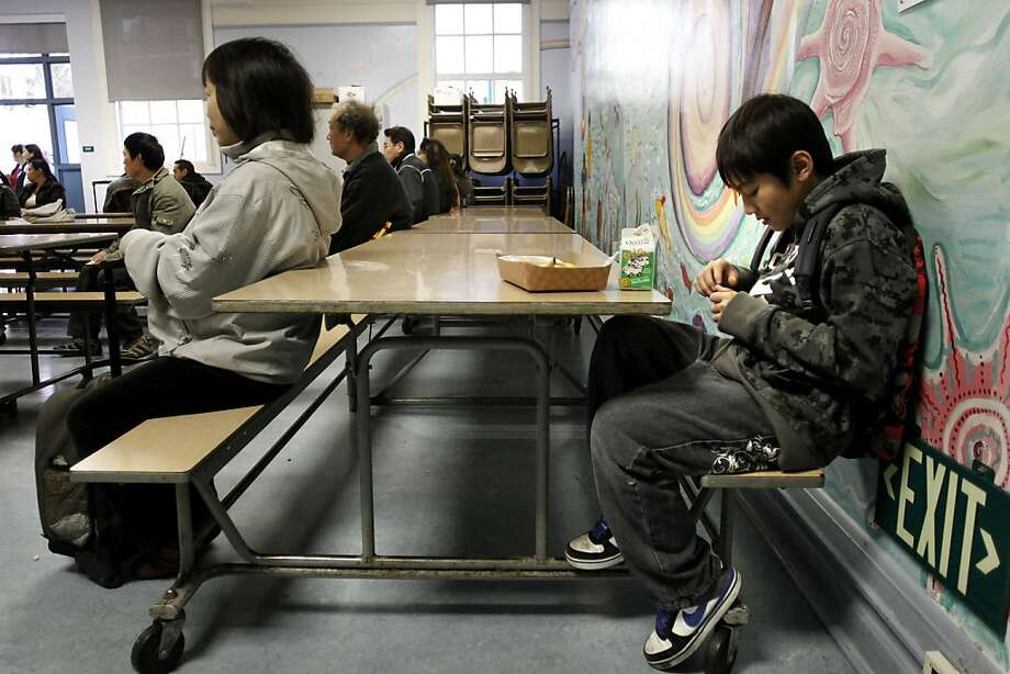 A proposal before the S.F. school board would let students have their morning meal in class instead of the cafeteria. Photo: Michael Macor, The Chronicle