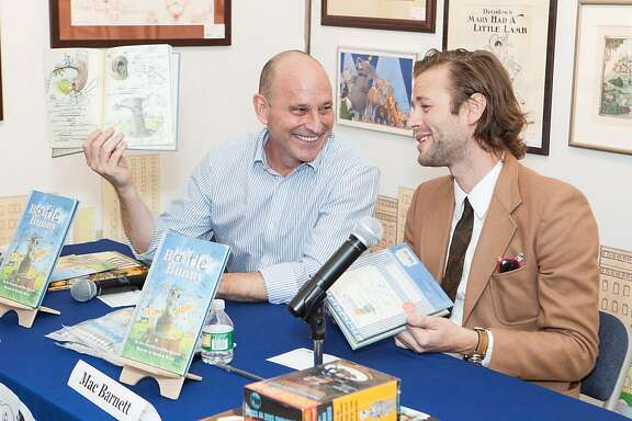 "Bay Area picture book author Mac Barnett has co-written a new book, ""Battle Bunny,"" with his writing idol, Jon Scieszka. The two were at a reading in New York on Sunday and will be appearing together in the Bay Area next week."