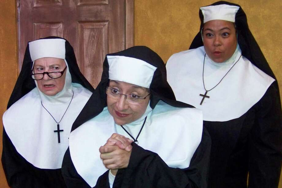 "Sandy Schwartz, Diane Diego and Sanseria Murray appear in Bulverde STAGE's production of ""Drinking Habits,"" a hilarious comedy about a group of nuns. Photo: Michael Simpson / Courtesy"