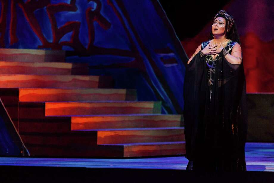 "Liudmyla Monastyrska plays Aida in Houston Grand Opera's staging of Giuseppe Verdi's ""Aida."" Photo: Lynn Lane / Lynn Lane"