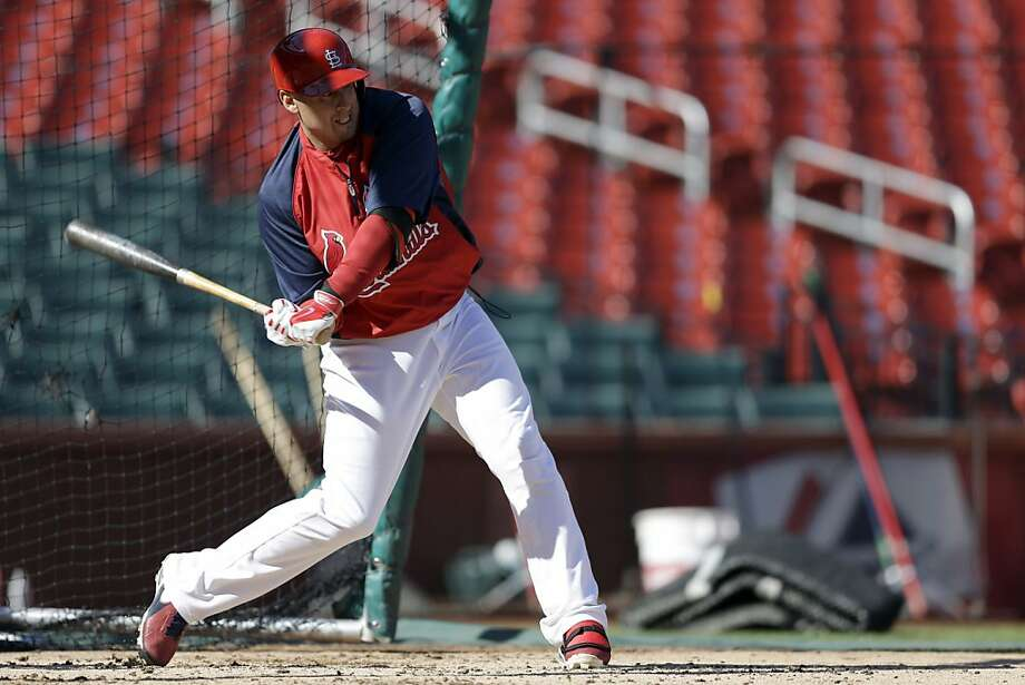 Allen Craig has been taking batting practice and expects to be able to play in the World Series after missing seven weeks with a foot injury. Photo: Jeff Roberson, Associated Press