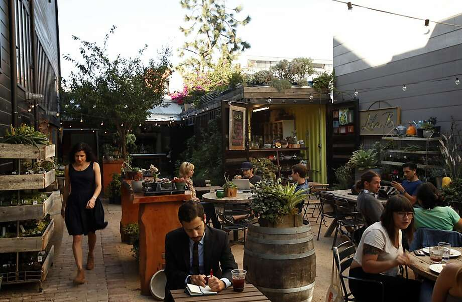 Lila B. Design has moved to the courtyard of Stable Cafe in San Francisco where it sells succulents and unusual plants. Photo: Sarah Rice, Special To The Chronicle