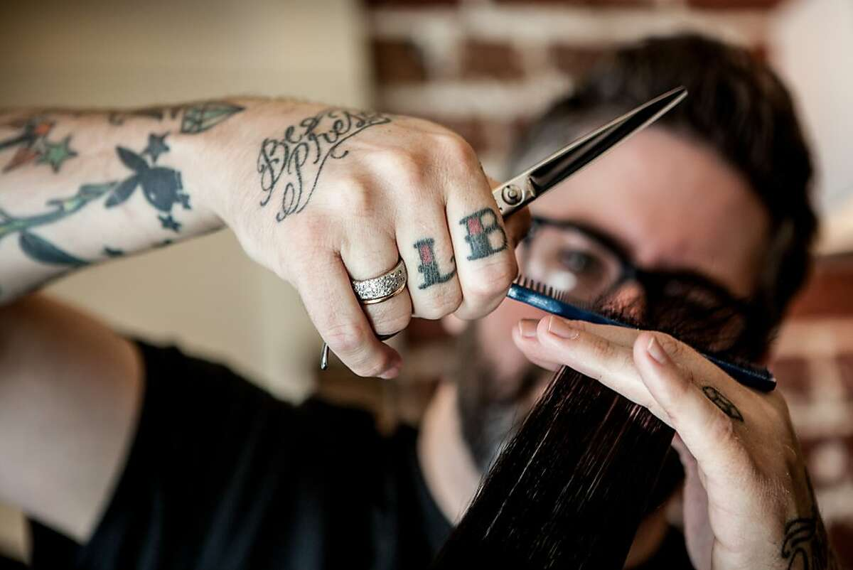 Heath Hamilton is a favorite hair stylist for politicians in Sacramento, California, October 11, 2013.