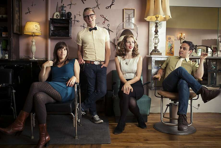 Lake Street Dive consists of Bridget Kearney (left), Mike Olson, Rachel Price and Mike Calabrese. Photo: Mongrel Music