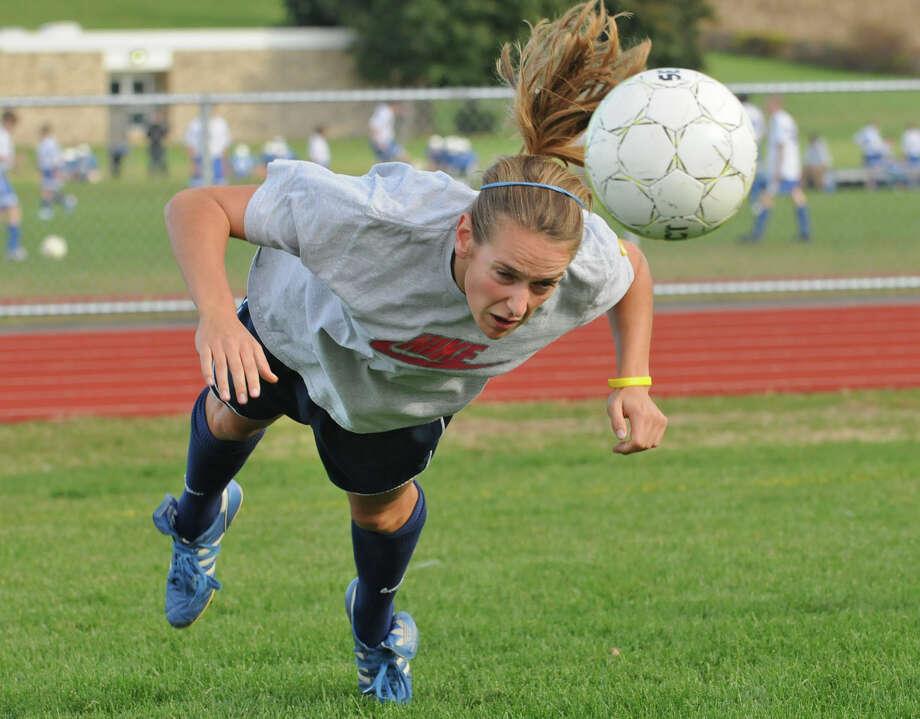 Hoosic Valley soccer player Mollie Gilchrist during practice in  Schaghticoke, NY on October 12, 2010.  (Lori Van Buren / Times Union) Photo: Lori Van Buren / 00010619A