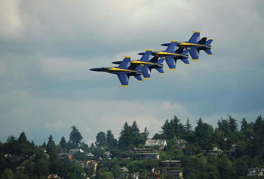The Blue Angels perform during Seafair on Saturday, August 6, 2011. Photo: Thom Weinstein, Thom Weinstein Photography / Thom Weinstein Photography
