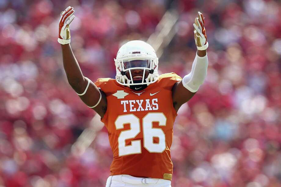 "Adrian Colbert and the Longhorns ""were full of themselves"" after beating OU, so coach Mack Brown is happy they didn't play this past weekend. Photo: Tom Pennington / Getty Images"