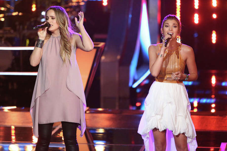 "THE VOICE -- ""Battle Rounds"" Episode 509 -- Pictured: (l-r) Lina Gaudenzi, Destinee Quinn -- (Photo by: Justin Lubin/NBC) Photo: NBC, Tyler Golden/NBC / 2013 NBCUniversal Media, LLC"