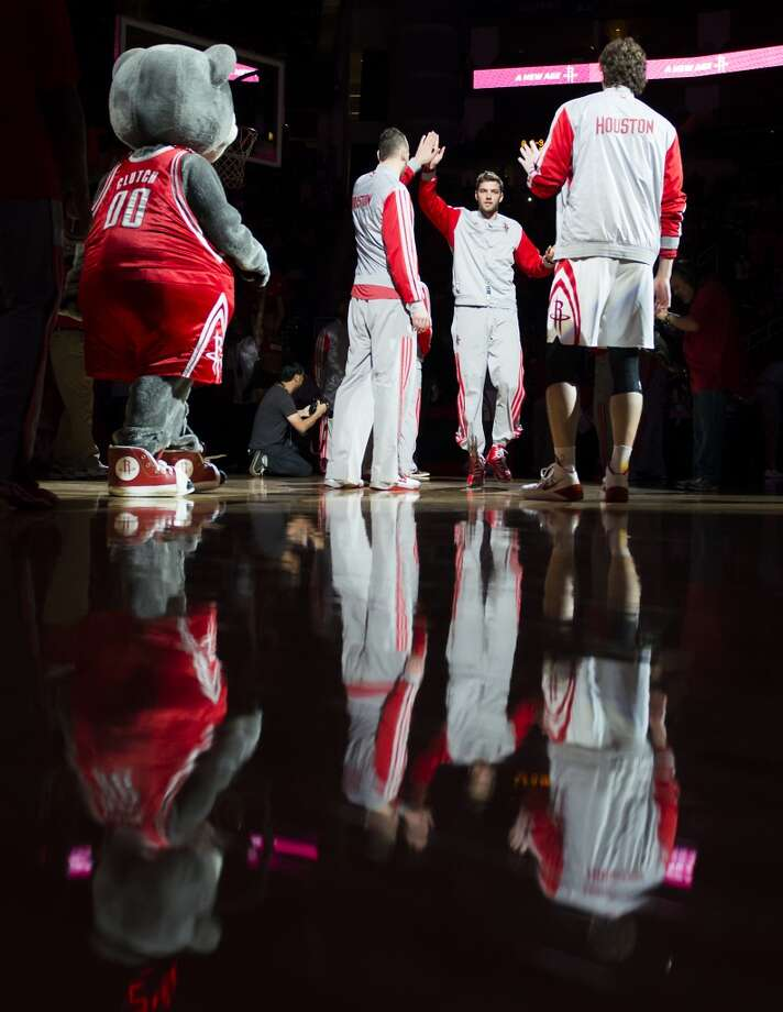 Houston Rockets small forward Chandler Parsons  introduced before the game. Photo: Smiley N. Pool, Houston Chronicle