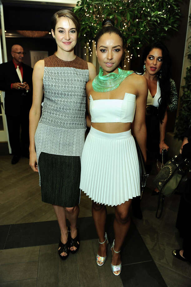 "Actresses Shailene Woodley , left, and Kat Graham attend the ELLE 20th annual ""Women in Hollywood"" event at the Four Seasons Hotel on Monday, Oct. 21, 2013 in Los Angeles. Photo: Jordan Strauss, Jordan Strauss/Invision/AP / Invision"
