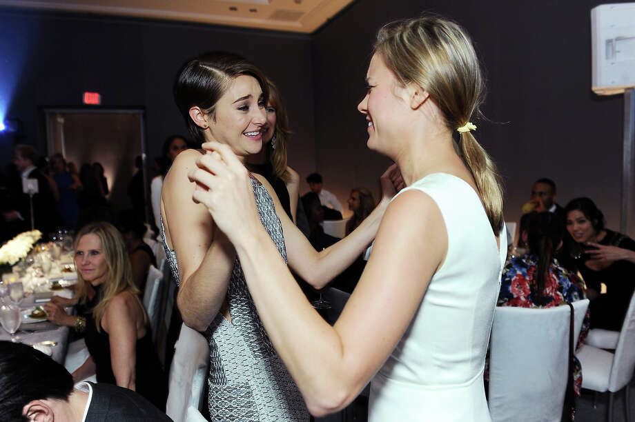 "Actresses Brie Larson, right, and Shailene Woodley attend the ELLE 20th annual ""Women in Hollywood"" event at the Four Seasons Hotel on Monday, Oct. 21, 2013 in Los Angeles. Photo: Jordan Strauss, Jordan Strauss/Invision/AP / Invision"