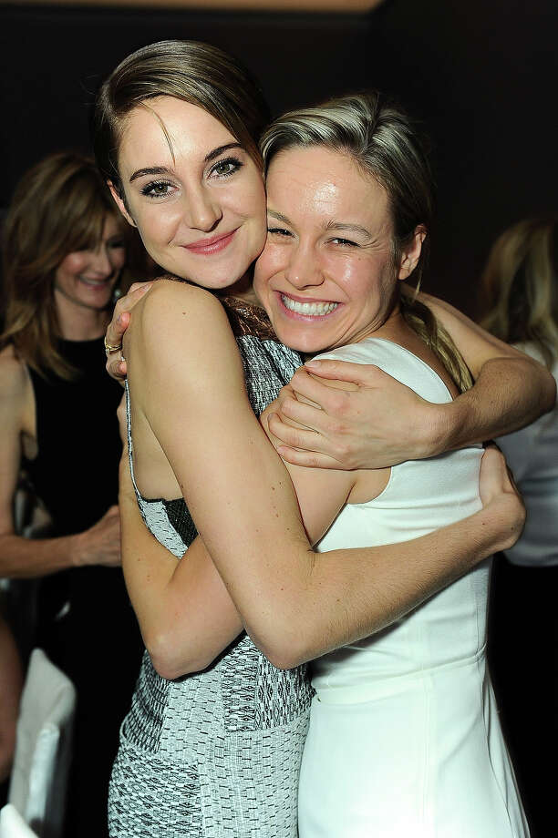 "Actress Shailene Woodley, left, and Brie Larson attends the ELLE 20th annual ""Women in Hollywood"" event at the Four Seasons Hotel on Monday, Oct. 21, 2013 in Los Angeles. Photo: Jordan Strauss, Jordan Strauss/Invision/AP / Invision"