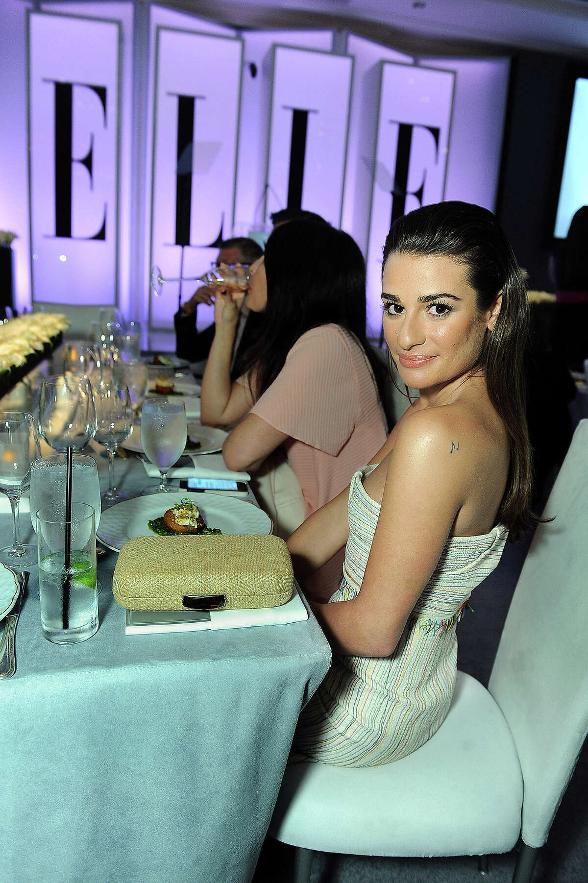 Actress Lea Michele attends the ELLE 20th annual