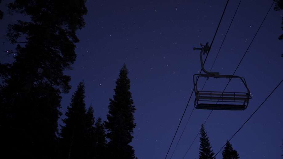 Night sky with chairlift. Photo: Tahoe Star Tours