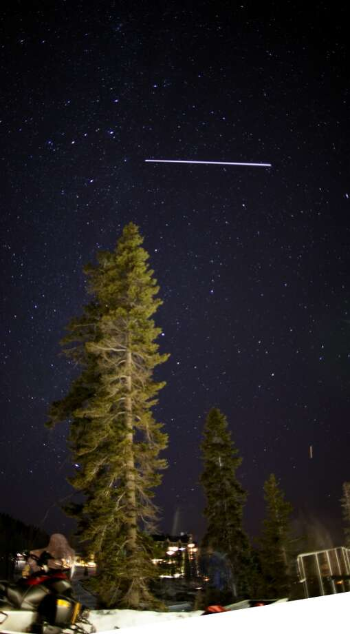 And finally, night sky with tree. Photo: Tahoe Star Tours
