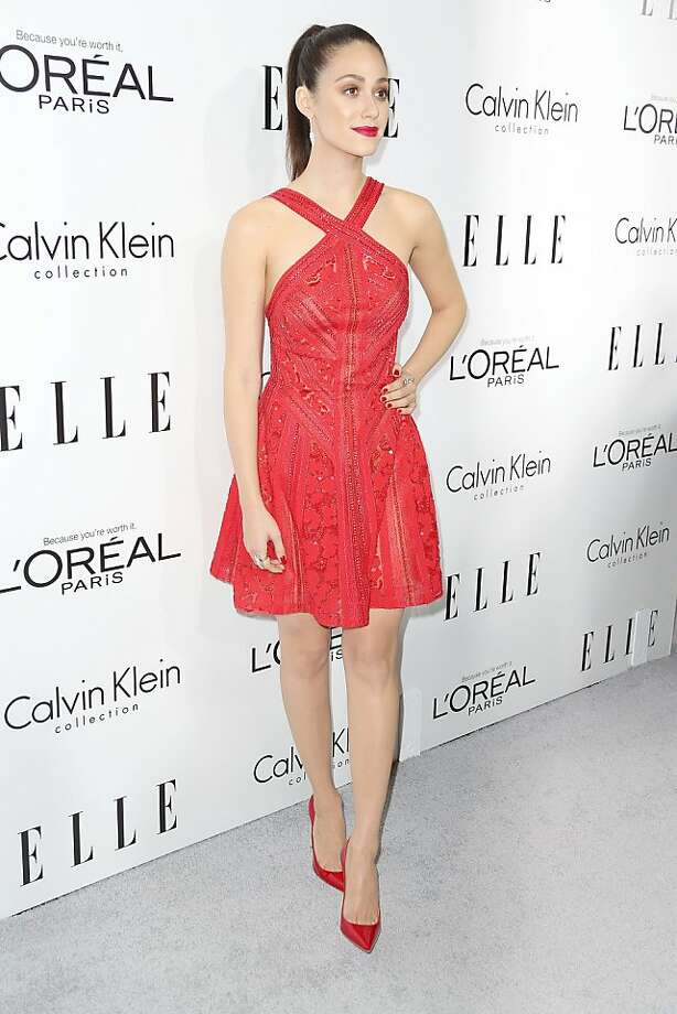BEVERLY HILLS, CA - OCTOBER 21:  Actress Emmy Rossum attends ELLE's 20th Annual Women in Hollywood Celebration at the Four Seasons Hotel Los Angeles at Beverly Hills on October 21, 2013 in Beverly Hills, California.  (Photo by Frederick M. Brown/Getty Images) Photo: Frederick M. Brown, Getty Images