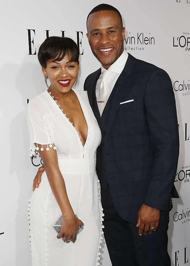 BEVERLY HILLS, CA - OCTOBER 21:  Actress Meagan Good (L) and DeVon Franklin attend ELLE's 20th Annual Women in Hollywood Celebration at the Four Seasons Hotel Los Angeles at Beverly Hills on October 21, 2013 in Beverly Hills, California.  (Photo by Frederick M. Brown/Getty Images) Photo: Frederick M. Brown, Getty Images