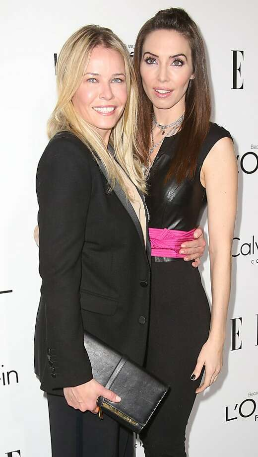 BEVERLY HILLS, CA - OCTOBER 21: Television host Chelsea Handler (L) and actress Whitney Cummings attend ELLE's 20th Annual Women in Hollywood Celebration at the Four Seasons Hotel Los Angeles at Beverly Hills on October 21, 2013 in Beverly Hills, California.  (Photo by Frederick M. Brown/Getty Images) Photo: Frederick M. Brown, Getty Images