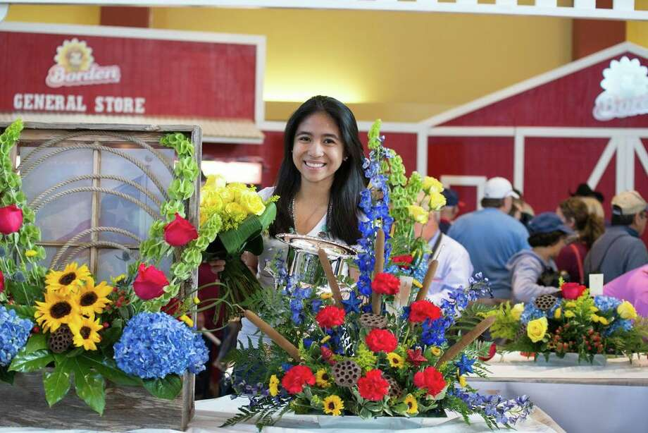 Madison High senior Junelyn Gamoa won a floral design competition at the Texas State Fair. Photo: Courtesy