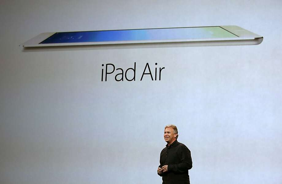 Apple's Phil Schiller announces the new iPad Air, which is 9.4 inches. Photo: Justin Sullivan, Getty Images